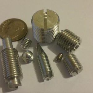 aluminum slotted set screws