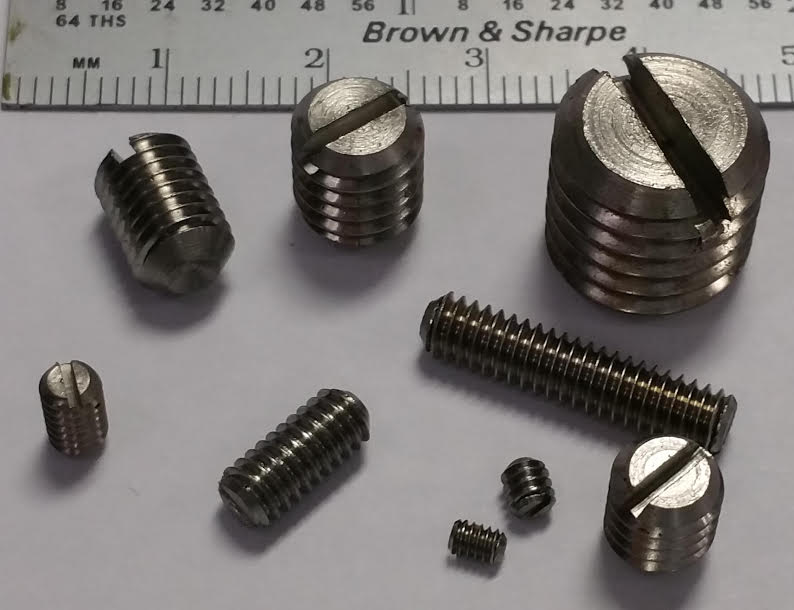stainless set screw