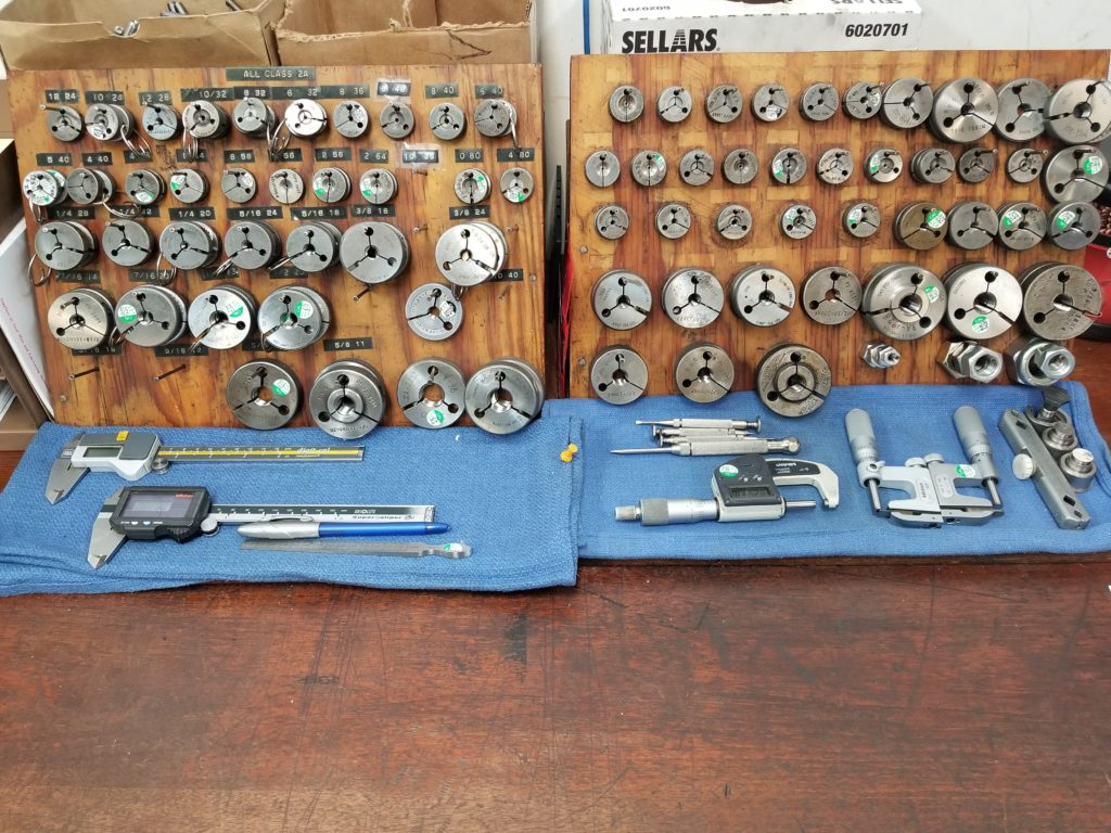 Ring gauges and other measuring equipment